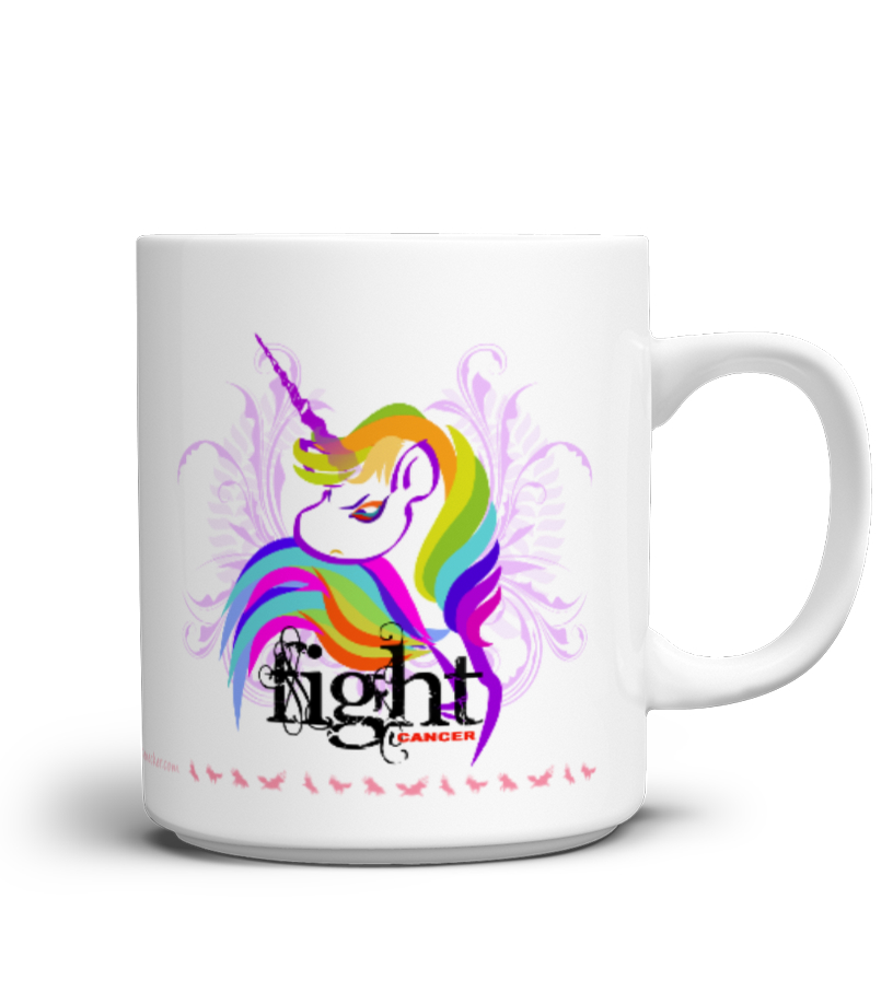 "Einhorn Mutmach-Tasse ""Fight Cancer"""